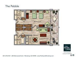 The Pebble Floor Plan at The Park Lane, California