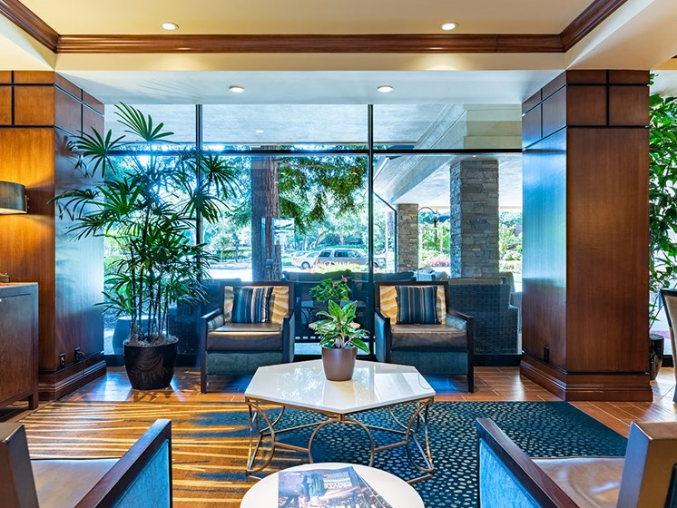 Beautiful Waiting Room at Pacifica Senior LIving, The Park Lane, Monterey