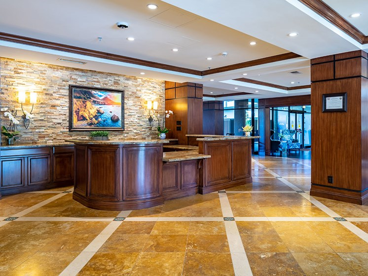 Reception And Waiting Area at Pacifica Senior LIving, The Park Lane, California
