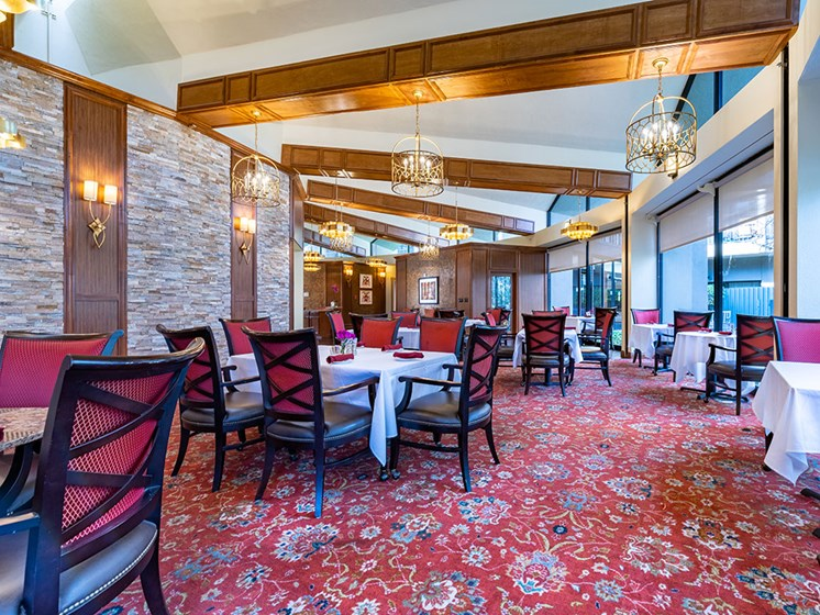 Cozy Dining Room at Pacifica Senior LIving, The Park Lane, Monterey, CA