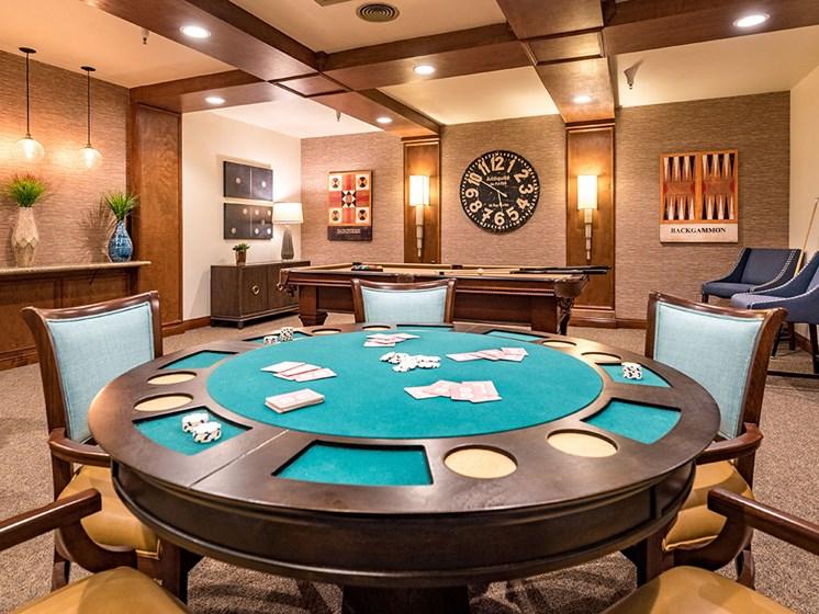 Game Room at The Park Lane, Monterey, California, Pacifica Senior Living