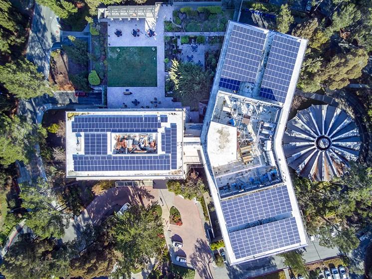 Aerial View Of Senior Community at Pacifica Senior LIving, The Park Lane, California, 93940