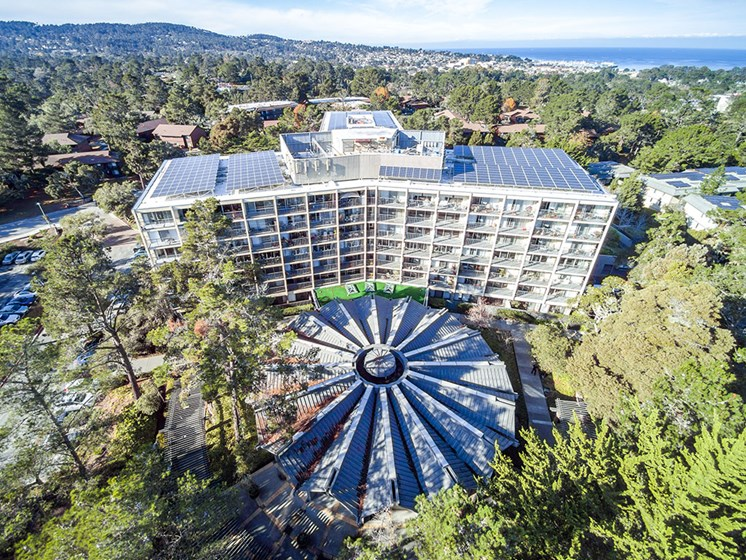 Aerial View Of Community Amenities at Pacifica Senior LIving, The Park Lane, Monterey, 93940