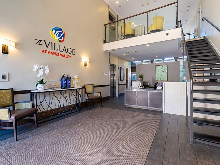 Secure Lobby area of our senior community,at The Village at Hayes Valley, California, 94102
