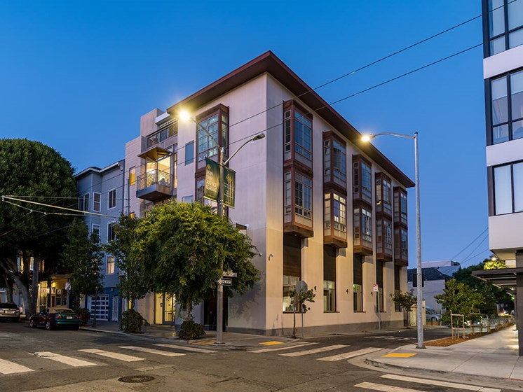 Leasing Center External View,at The Village at Hayes Valley, California, 94102