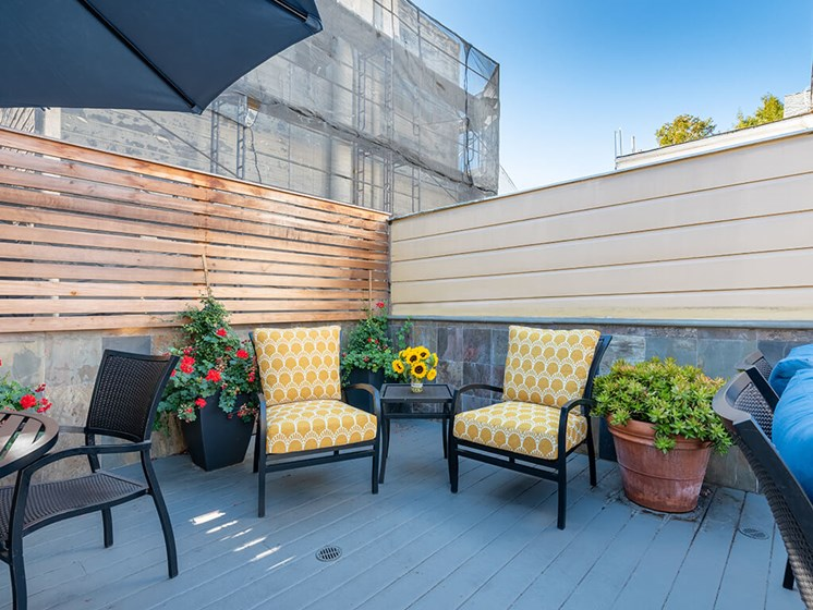 Rentable Rooftop Terrace,at The Village at Hayes Valley, San Francisco, CA