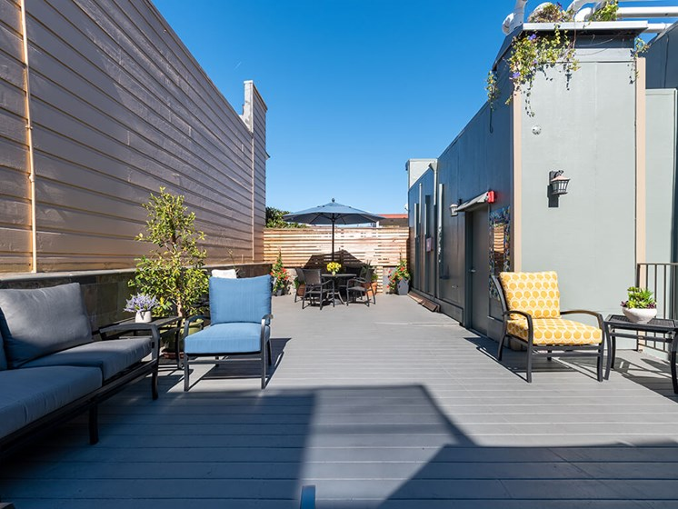 Spacious Rooftop Deck with downtown San Francisco views t The Village at Hayes Valley, San Francisco California