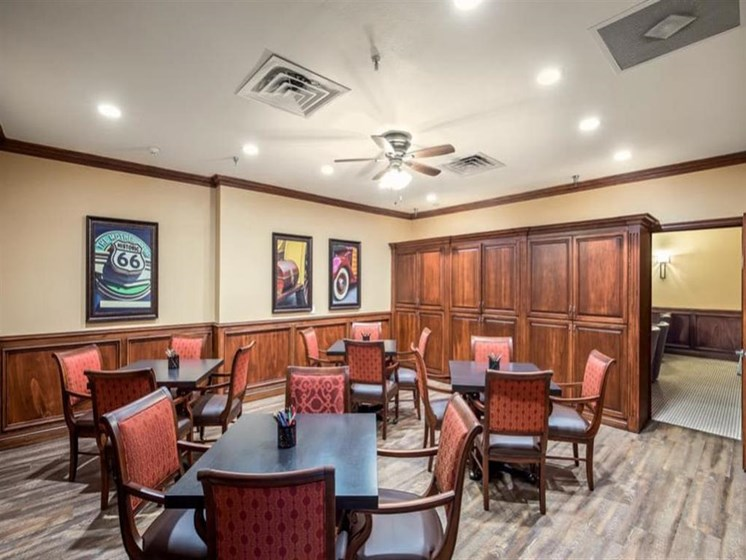 Activity common room at Wyndham Lakes in Jacksonville, FL