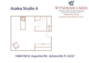 Azalea Studio A Floor Plan at Wyndham Lakes, Florida, 32257