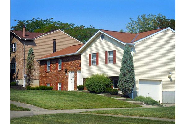Garages at The Villas at Kingsgate Village Duplex Homes in West Chester, OH