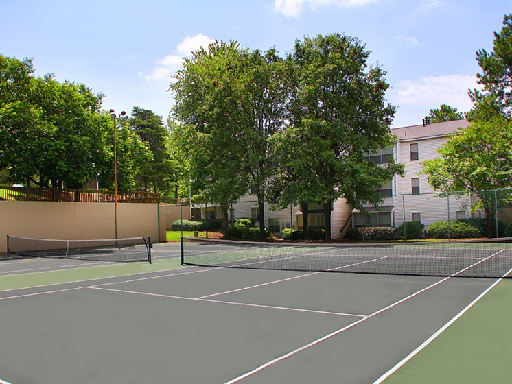 Tennis Court view during daytime