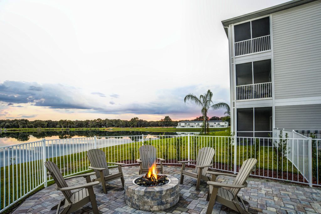 Fire Pit dawn at Century Lakehouse, Plant City, 33566