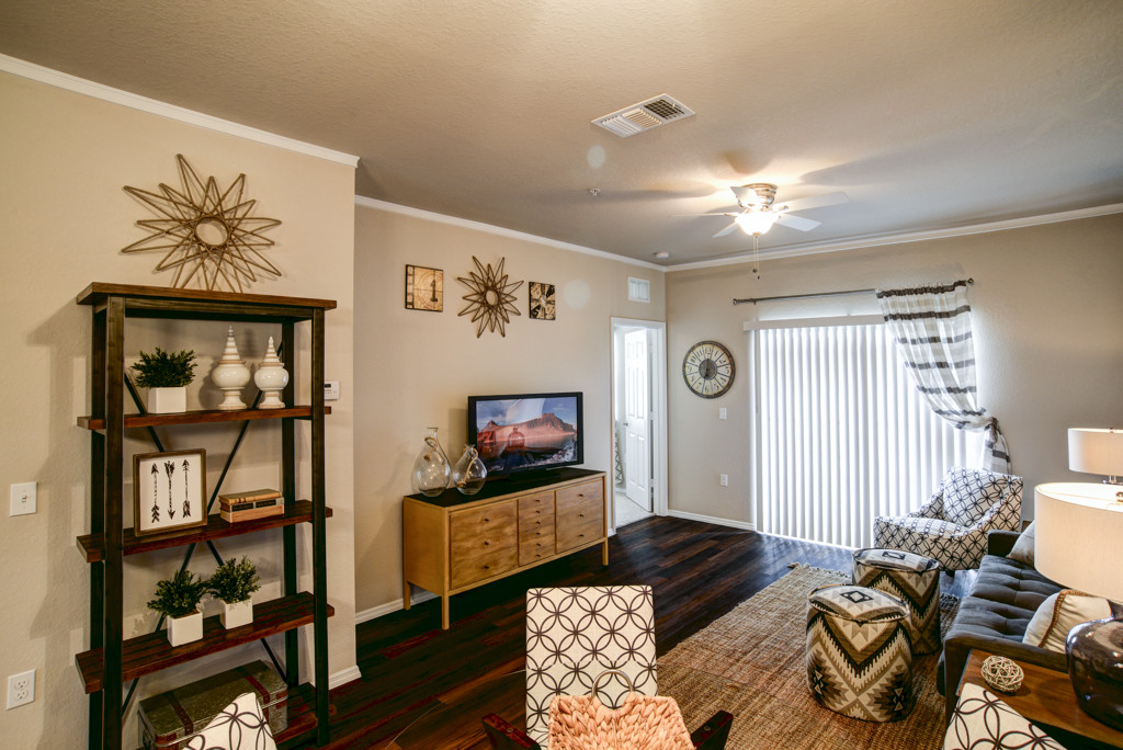 Model Living Room at Century Lakehouse, Plant City, Florida