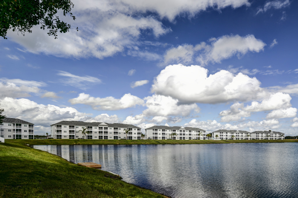 View of Buildings from Playground at Century Lakehouse, Plant City