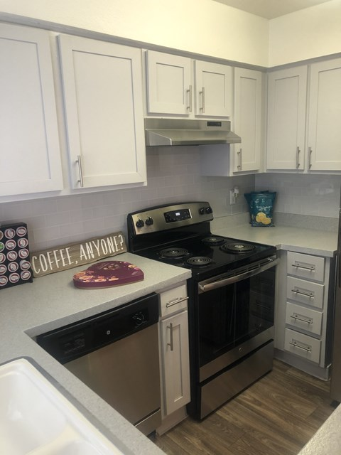 updated kitchen with dishwasher