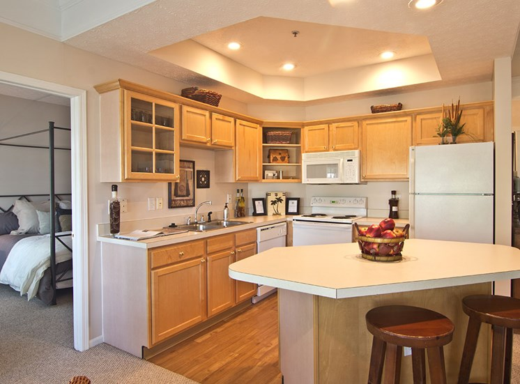 Kitchen Island at The Orchard Apartments