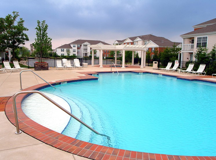 Pool area at The Orchards Apartments in Dublin OH