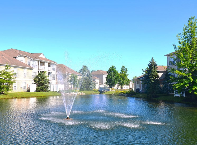 The Farms Apartments pond