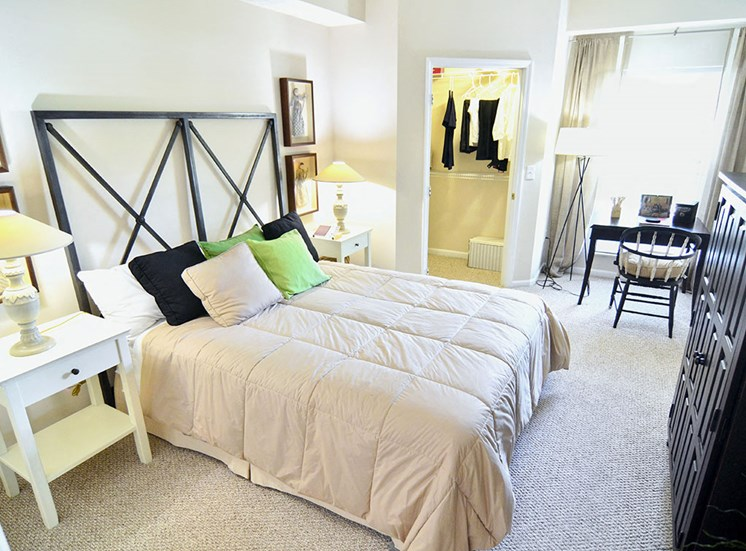 Bedroom at apartments in Columbus OH