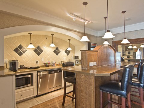 Kitchen at Times Square Town House in Dublin OH