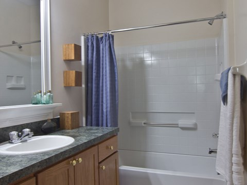 Bath at Times Square Apartments in Dublin OH