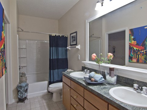 Vanities at Times Square Apartments in Dublin OH