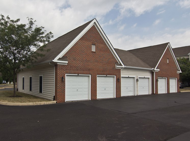 Garages at The Charleston apartments in Dublin OH