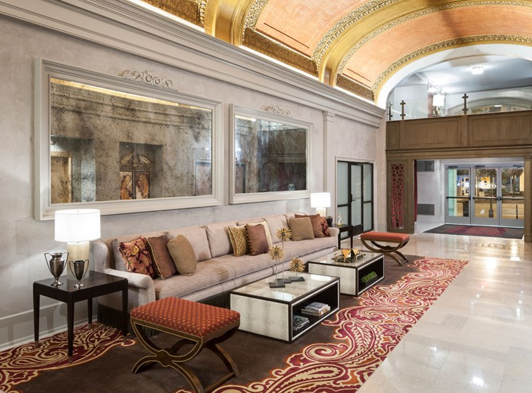 Lobby at The Citizens Apartments in Columbus OH