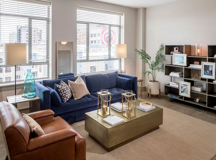 Living room at The Citizens Apartments in Columbus OH