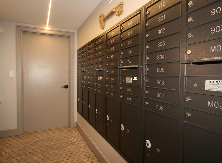 Mail room at The Citizens in Columbus OH