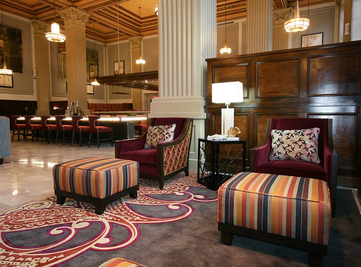 Lobby Seating at The Citizens Apartments Downtown Columbus OH