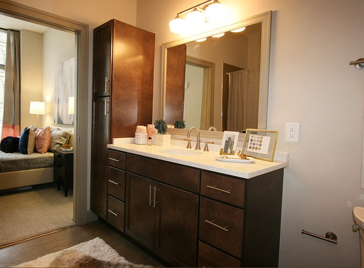 Bathroom at The Citizens Apartments in Downtown Columbus OH