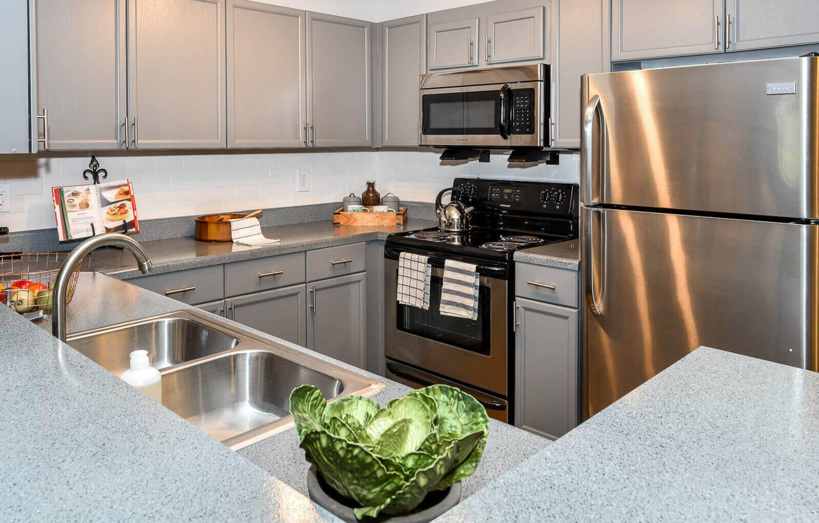 Efficient Appliances In Kitchen, at Crestmark Apartment Homes, Georgia