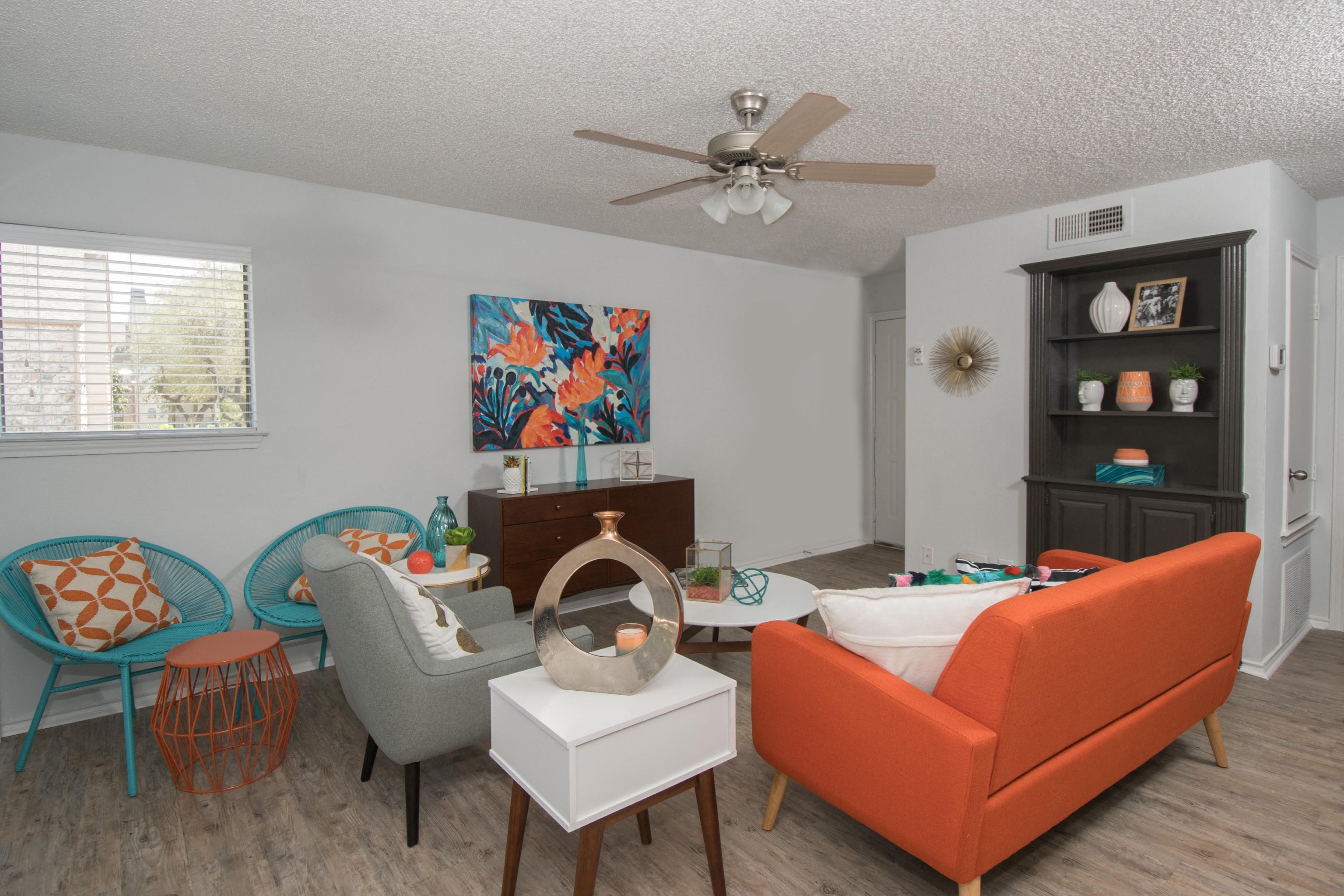 living area northwest san antonio apartments