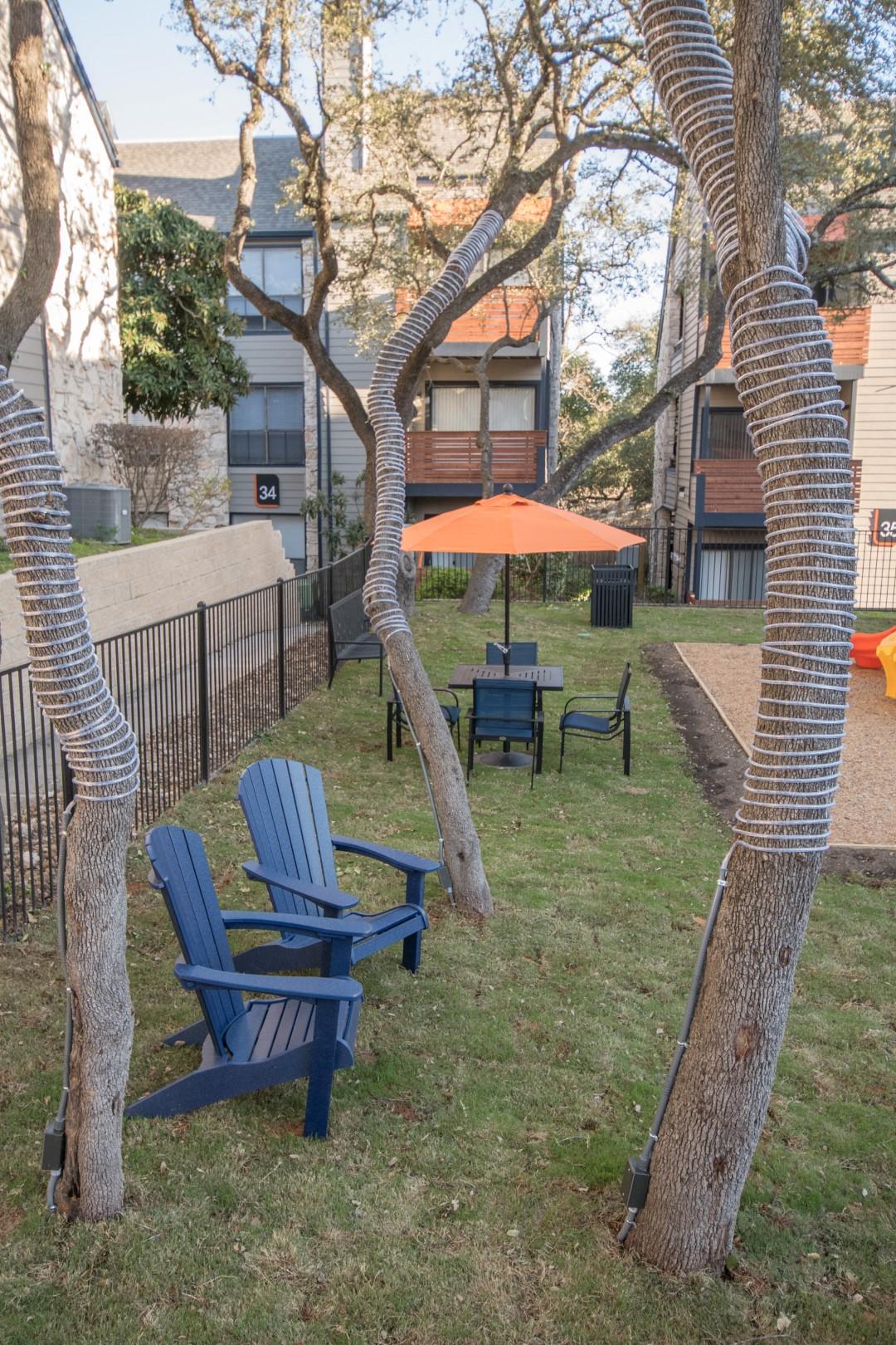 outdoor area northwest san antonio apartments