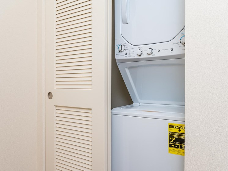 stackable washer and dryer.