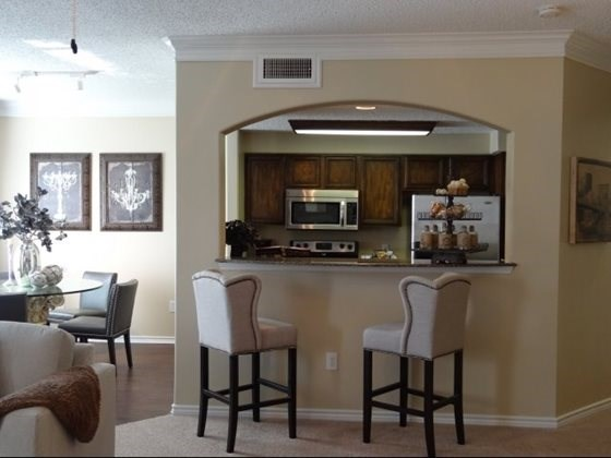 open dining room & kitchen area