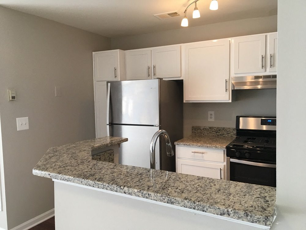 Newly renovated kitchen with stainless steel appliances