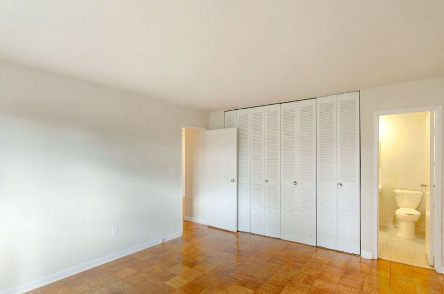 Large closets in living area at Broadfalls in Falls Church, VA