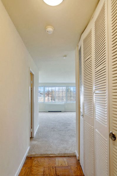 Hallway to living area at Broadfalls in Falls Church, VA