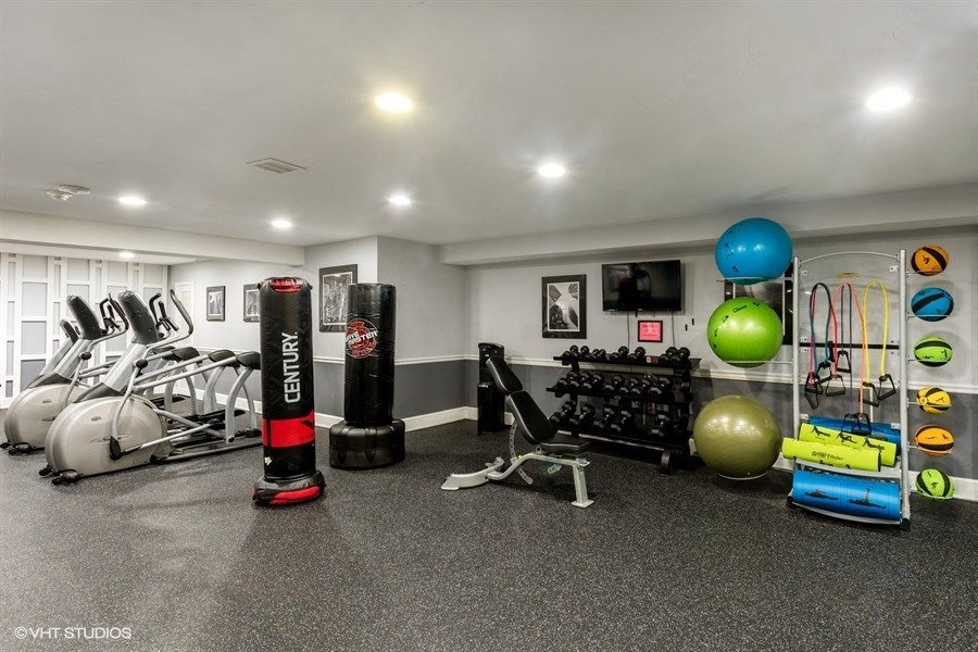 Fully equipped fitness center at Broadfalls in Falls Church, VA