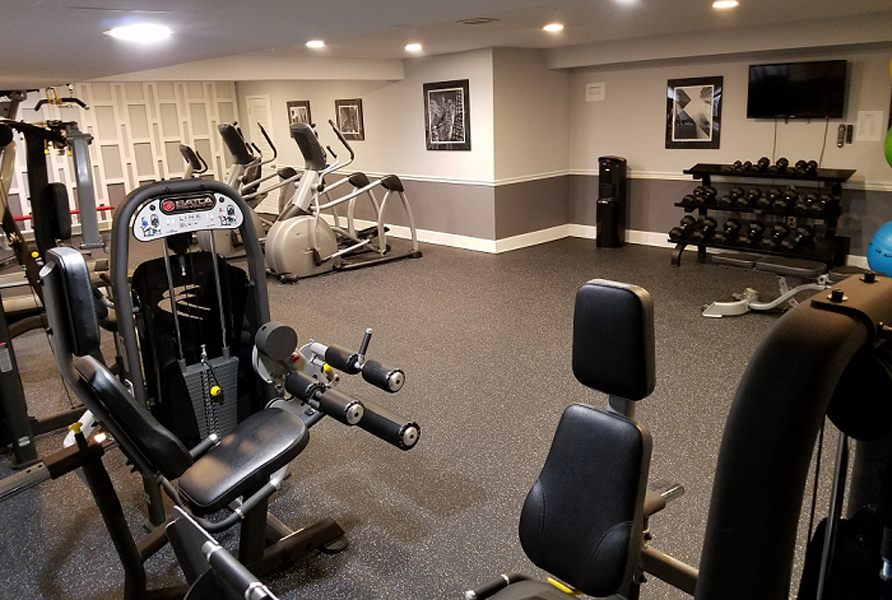 Weight machines in fitness center at Broadfalls in Falls Church, VA