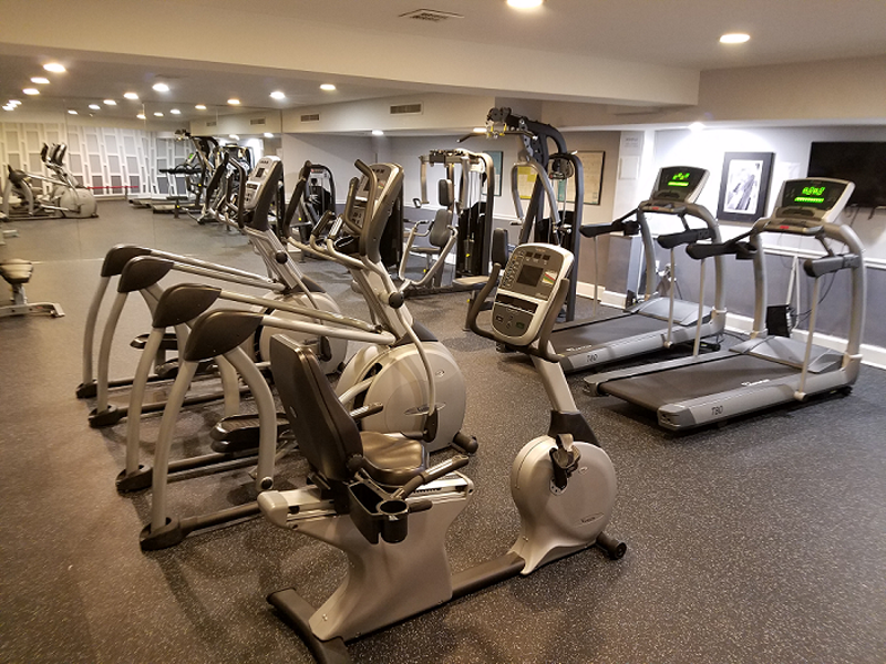 Cardio equipment in fitness center at Broadfalls in Falls Church, VA