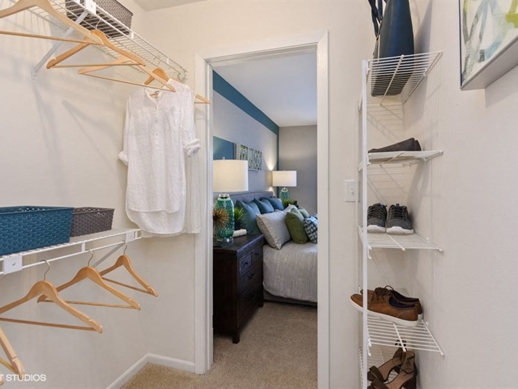 Large closets with plenty of storage at Brook Run in Arlington Heights, IL