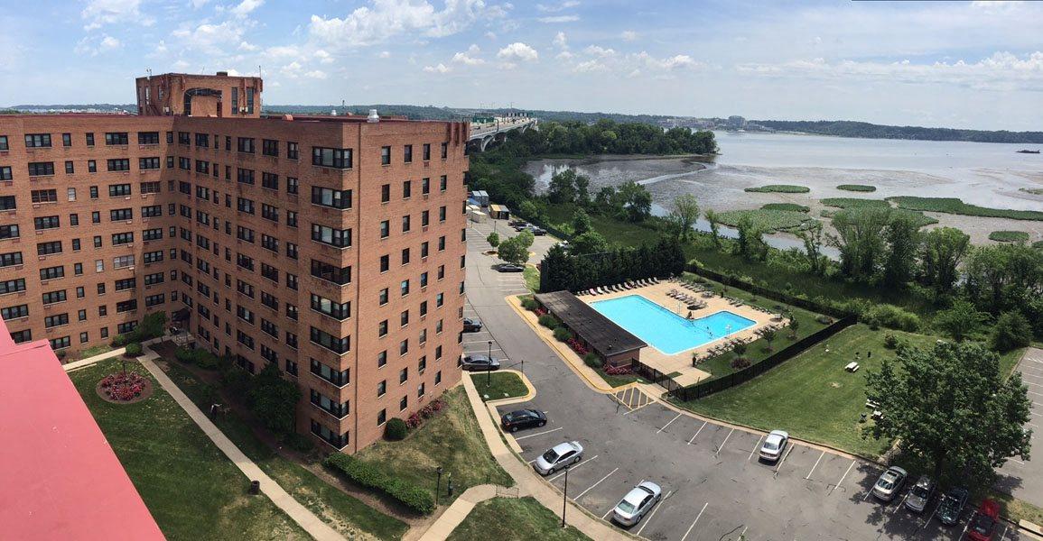 Aerial view of Bridgeyard in Alexandria, VA