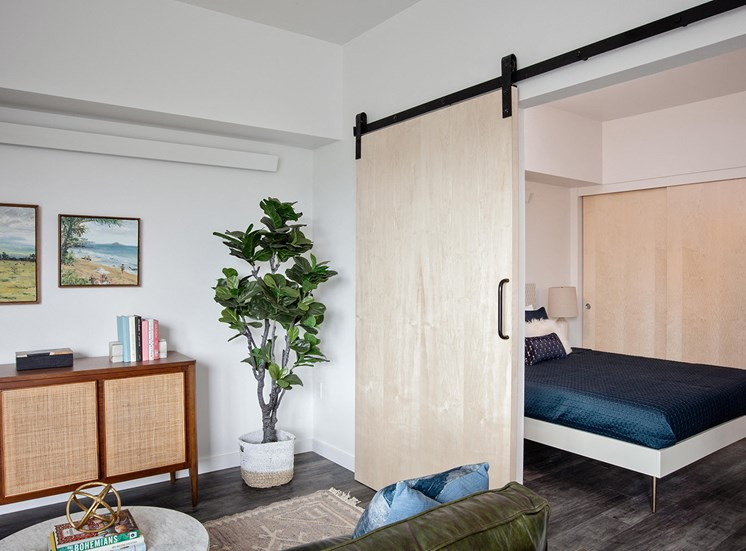 Oro Apartments Living Room Bedroom Door