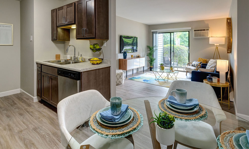 Open Living & Dining Space - The Clayson Apartments