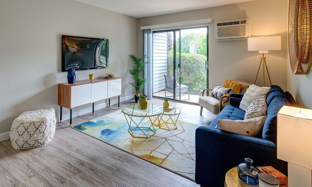 Living Space and Patio View -  The Clayson