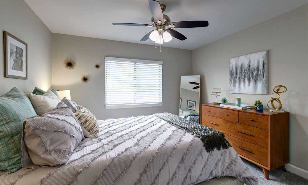 Comfortable Bedroom at The Clayson in Palatine, IL
