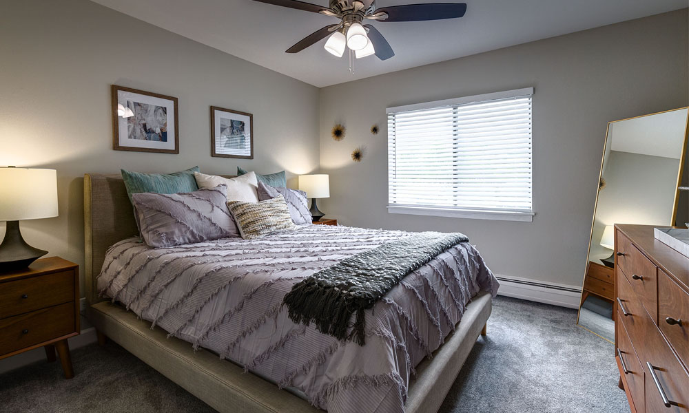 Spacious Bedroom with Ceiling Fan -  The Clayson